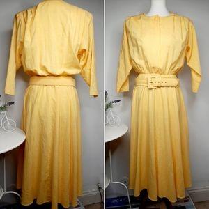 Vintage 70s/80s Stuart Alan Midi dress size 12